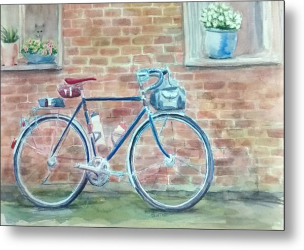 Bike In The Alley Metal Print