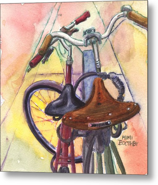 Bike Love Metal Print