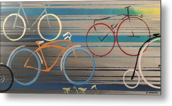 Bike Path I Metal Print by Vivian Mora