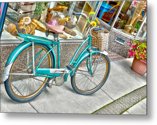Bike Ride To The Bake House Metal Print by John Debar