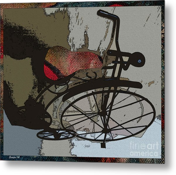 Bike Seat View Metal Print