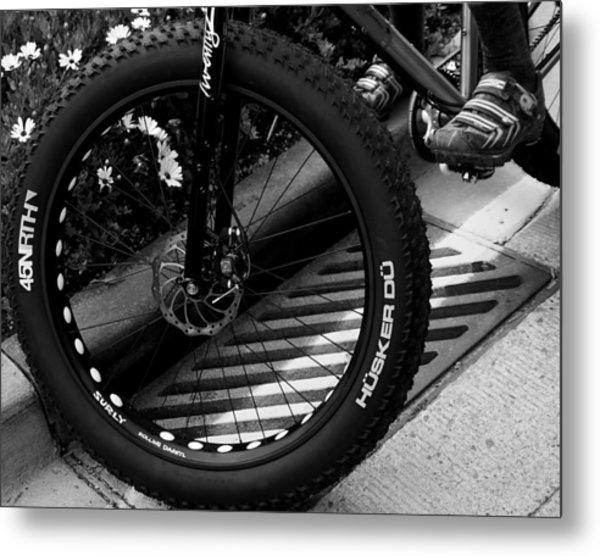 Bike Tire Metal Print