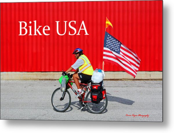 Bike Usa Metal Print