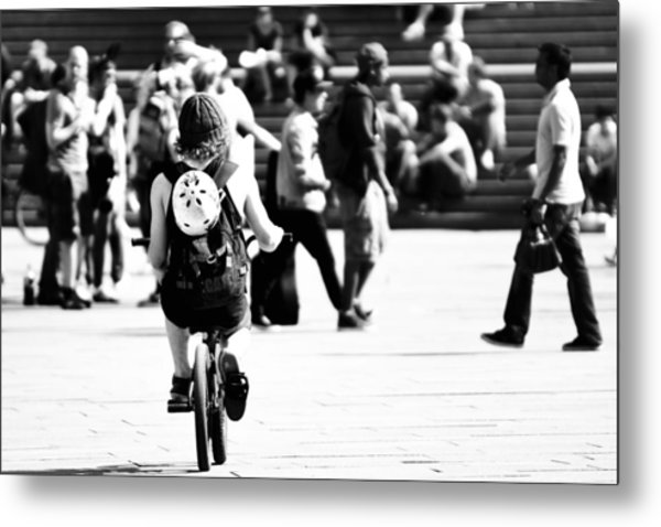 Biker Metal Print by Elias Khattar