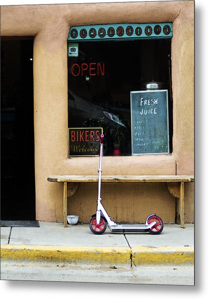 Bikers Welcome Metal Print