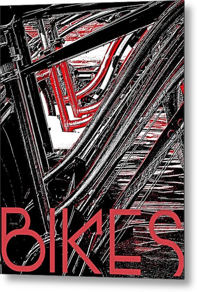 Bikes Poster -- A Metal Print by Brian D Meredith