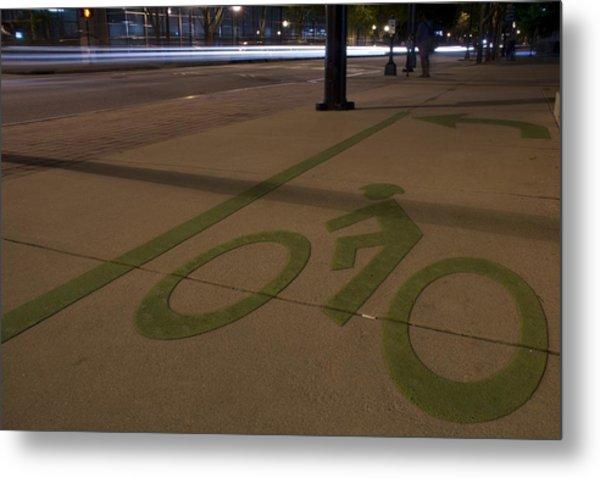 Bikes Versus Cars Metal Print by Lisa Marie Pane