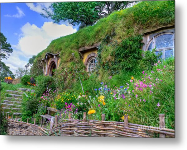 Bilbo Baggins House 1 Metal Print