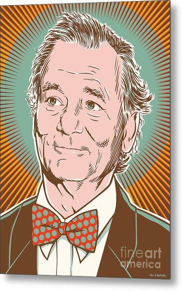 Bill Murray Pop Art Metal Print