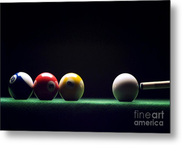 Billiard Metal Print