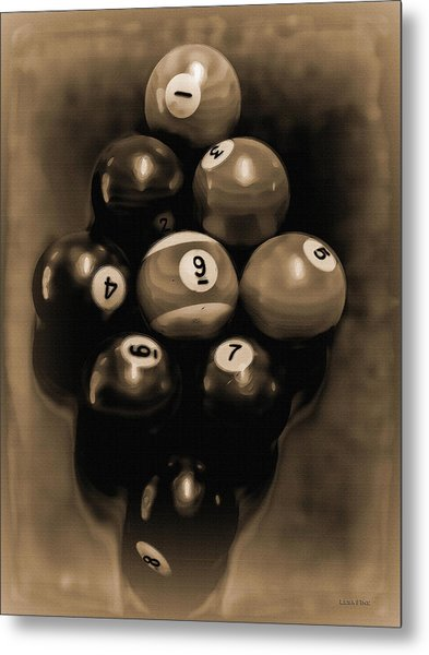 Billiards Art - Your Break - Bw Opal Metal Print