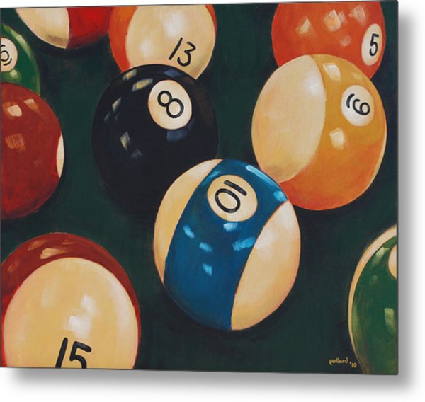 Billiards Metal Print
