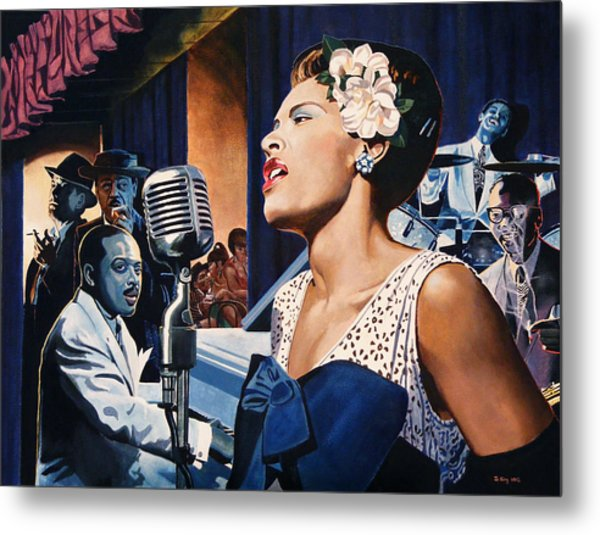 Billie Holiday - Lady Sings The Blues Metal Print by Jo King