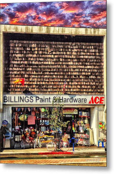 Billings Hardware Metal Print by Bob Winberry