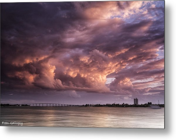 Billowing Clouds Metal Print