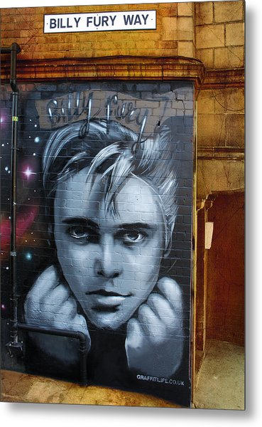 Billy Fury Way Metal Print by Stephen Norris