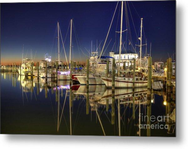 Biloxi Harbor Metal Print