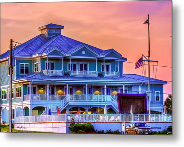 Architecture - Biloxi Yacth Club Metal Print by Barry Jones