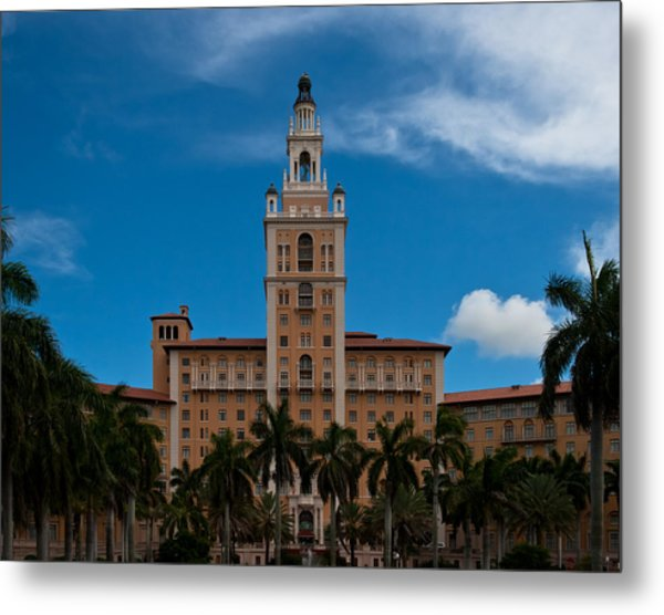 Metal Print featuring the photograph Biltmore Hotel Coral Gables by Ed Gleichman