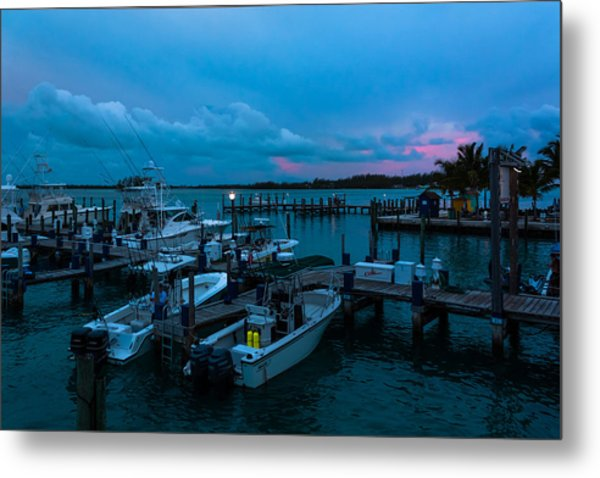 Bimini Big Game Club Docks After Sundown Metal Print