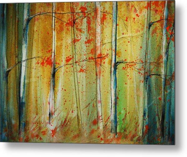 Birch Tree Forest I Metal Print