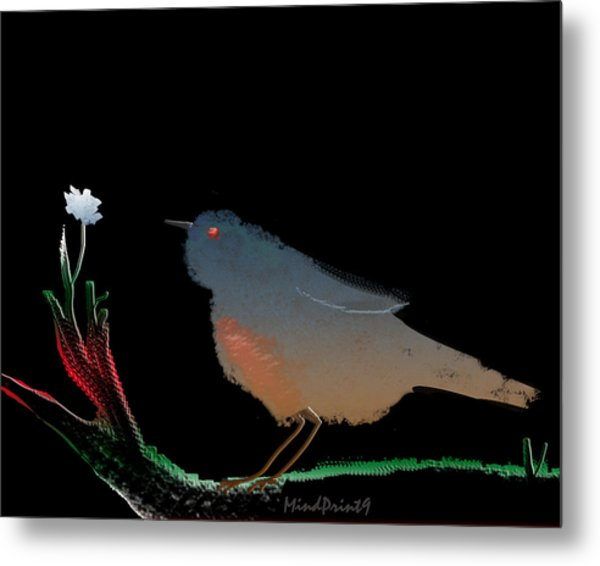 Bird And The Flower Metal Print