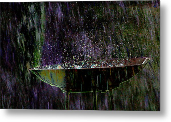 Bird Bath Explosion Metal Print