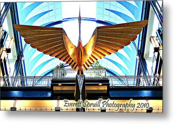 Bird In The Building Metal Print