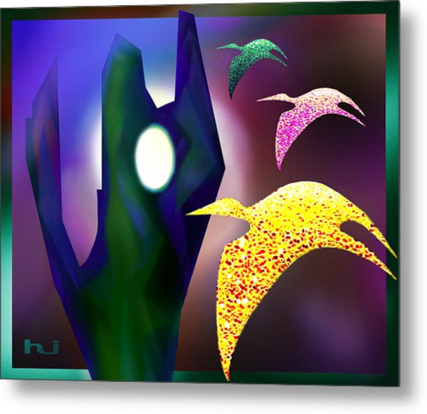 Bird Magic Metal Print