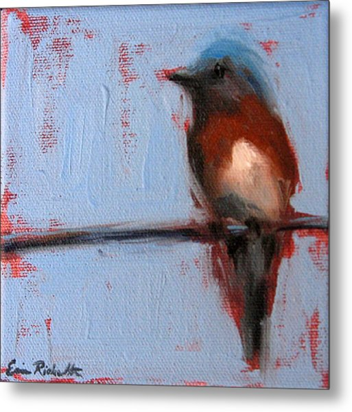 Bird On A Wire II Metal Print