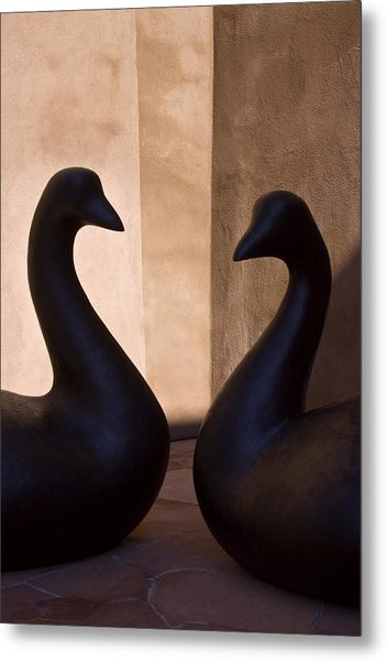 Bird Sculptures Metal Print