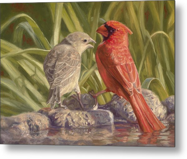Bird Talk Metal Print