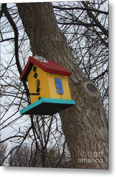 Birdhouse Of Color Metal Print by Margaret McDermott
