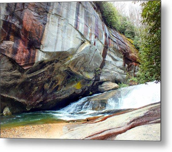 Birdrock Waterfall In Spring Metal Print