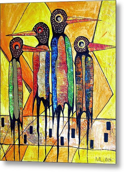 Birds 738 - Marucii Metal Print