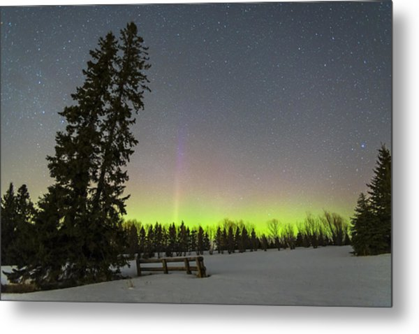 Bird's Hill Aurora One Metal Print