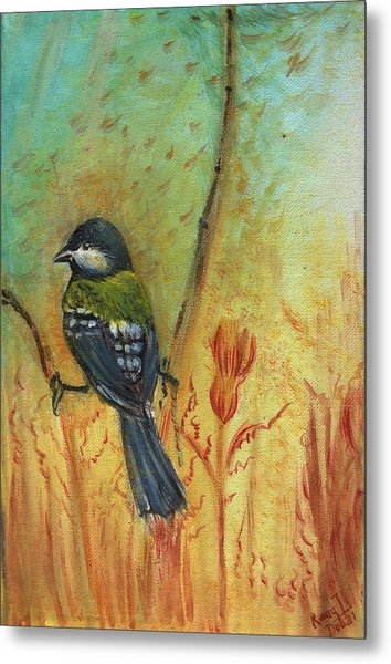 Birds Of A Feather Series3 In Autumn Metal Print by Remy Francis