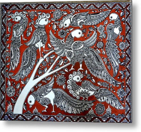 Birds Of Eden Metal Print by Deepti Mittal