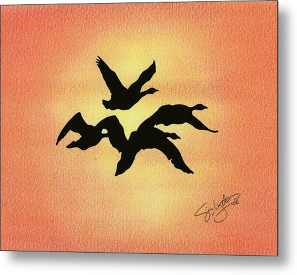Birds Of Flight Metal Print