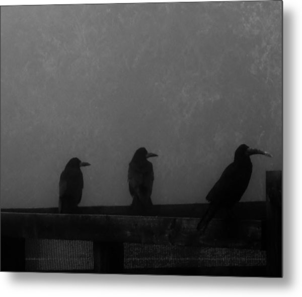 Birds On A Fence Metal Print by Michelle O'Neill