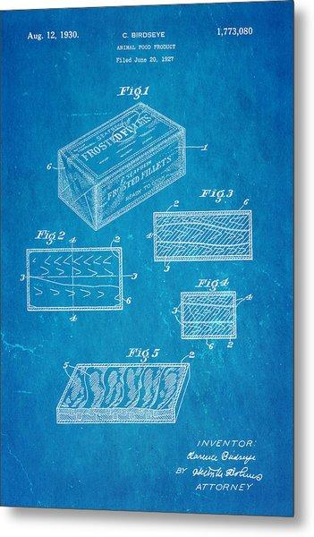 Birdseye Frozen Food Patent Art 1930 Blueprint Metal Print