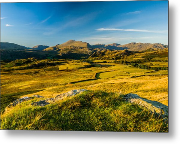 Birker Fell Lake District Metal Print by David Ross