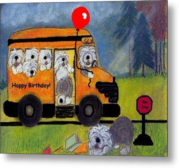 Birthday Bus Metal Print