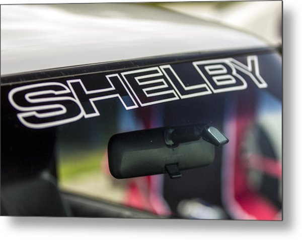 Birthday Car - Shelby Windshield Metal Print