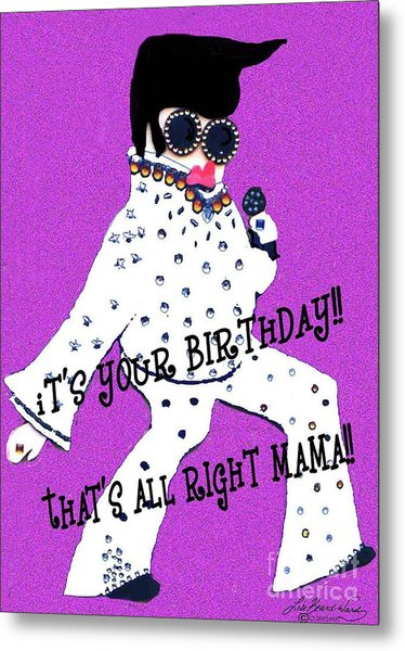 Birthday Mama Metal Print