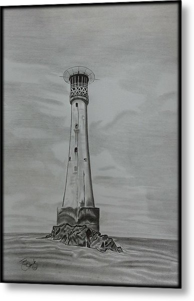 Bishops Rock Lighthouse Metal Print