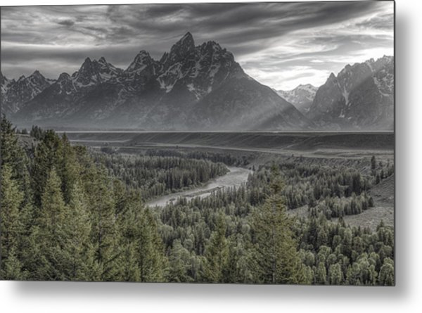 Black And Teton Metal Print