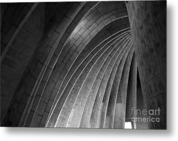 Black And White Arches Metal Print