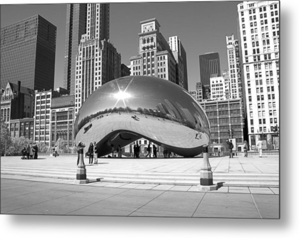 Chicago - The Bean Metal Print