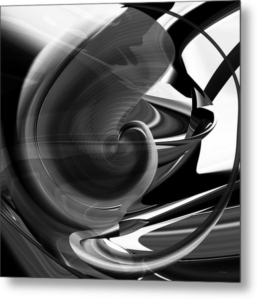 Black And White Future Abstract Metal Print